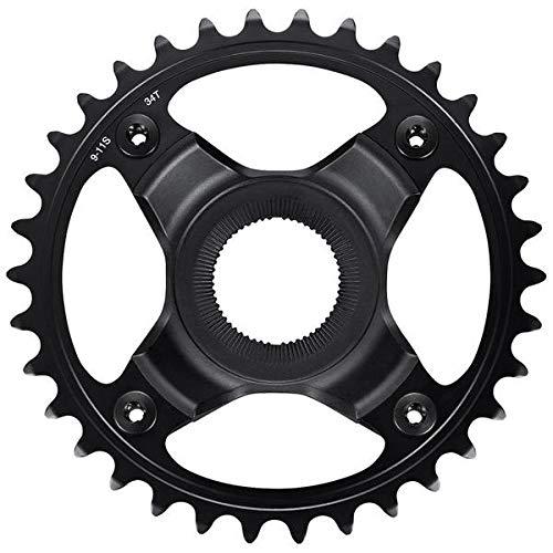 Shimano Steps FC-E80009/11S - Plato de bicicleta (53 mm, 34T, acero inoxidable), color negro