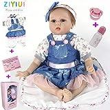 ZIYIUI Reborn Handgemachte 22''/55cm Reborn Babys mädchen Puppe Realistische Weiche Reborn Puppen...