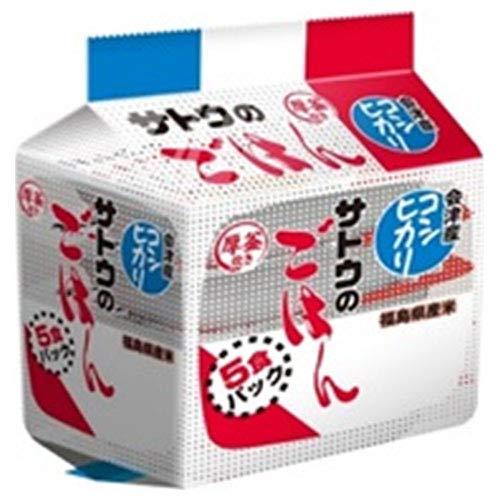 サトウ食品 サトウのごはん 福島県会津産コシヒカリ 5食パック (200g×5食)×8個入×(2ケース)