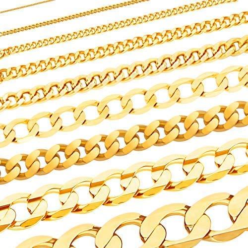 Massive edle Goldkette Panzerkette Halskette Collier Echt 585 Gold (50, 4.7mm)
