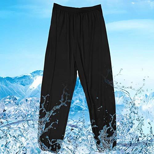 FECAMOS Pantalones de Fitness para Mujer Pantalones de Yoga Transpirables para Mujer Puño elástico(Black, XL)