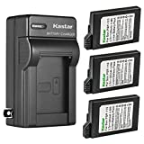 Kastar 3-Pack Battery and AC Wall Charger Replacement for Sony PSP-S110, PSPS110 Battery, Sony PSP-2010, PSP-3000, PSP-3001, PSP-3002, PSP-3003, PSP-3004, PSP-3005, PSP-3006, PSP-3007 Playstation