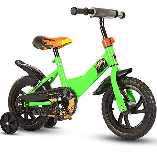 TOOSD Bicicleta para Niños De 12 Pulgadas, Bicicleta para Niños con Ruedas De Entrenamiento Y Pedales para Niños Y Niñas, Regalos para El Primer Cumpleaños De La Bicicleta para Niños,A