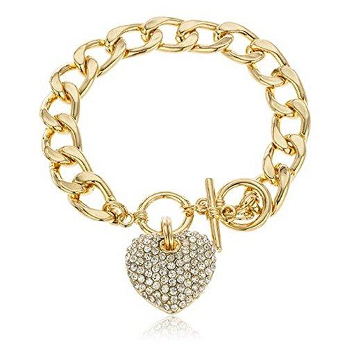 SDCAJA Silver Bracelet for Women Roman Style Woman Crystal Diamond Bracelets GiftsValentine's Day present for Wife, Mum and Girlfriend