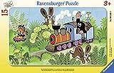 Ravensburger Kinderpuzzle 06349 - Der Maulwurf als Lokführer - Rahmenpuzzle