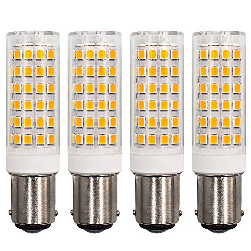 Birne B15D LED 6W Ersetzen 60W Halogenlampe Hell Warmweiß 3000K AC220-240V B15 Bajonett Fassung für Nähmaschine, 4er-Pack