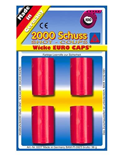 narrenkiste Wk0227 2000 Schuss Packung 20x100 Schuss Rolle Munition von Wicke