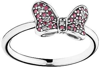 190956CZR-60 Pandora Sterling Silver Disney Minnie's Sparkling Bow Ring Size 60