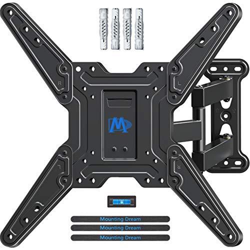 Mounting Dream TV Wandhalterung für die meisten 26-55 Zoll LED, LCD, OLED und Plasma Flach Bildschirm TV mit Schwenkbar Gelenkarme bis VESA 400 x 400 mm und 27 kg mit Neigbare, MD2413-MX-021