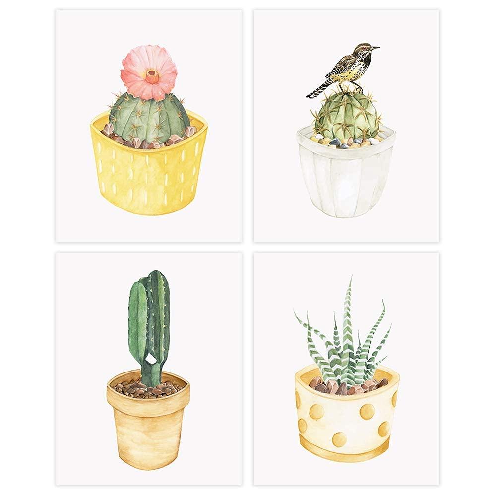 Cactus Wall Atlanta Mall Decor Art Prints Set 4 Free shipping / New of - Bot Unframed 8x10s