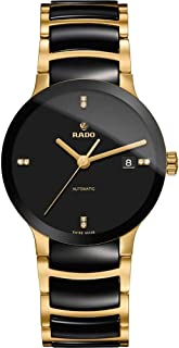 Rado Swiss Jublie Analog Ceramic Black Dial Gold Watch for Men