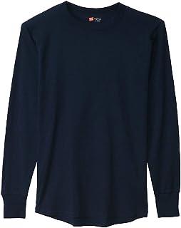 [ヘインズ] (旧モデル) Tシャツ サーマル 長袖 クルーネック HM4-G501 メンズ