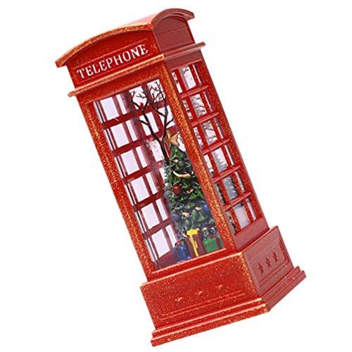 ABOOFAN Linterna de globo de nieve iluminada para árbol de Navidad, para día festivo, para decoración del hogar, regalo de luz de noche, lámpara de teléfono, diseño colorido sin batería