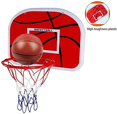 XIUYU Rückenbrett Mini Basketballkorb Indoor Rim Combo Set, Korb-Rahmen-Basketball Einhängegestell Design Anti-Smash Resistant Spielzeug Basketball (Size : 46.5x32.5cm)