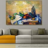 Wehoiweh Paul Cezanne Old Famous Master Artist Still Life Rum with Fruits Canvas Painting Poster and Print for Room Decor Wall Art (80x120cm) 32