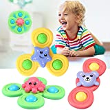 OFOCASE 3PCS Suction Spinning Toys Baby Toy, Table Sucker Gameplay Early Learner Toys Window Spinner for Kids, Stress Relief Suction Cup (Ocean Series)