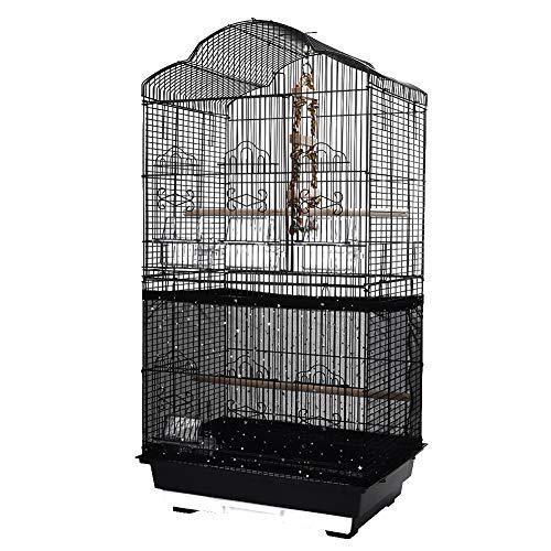 QBLEEV Vogelkäfigabdeckung, dehnbar, für Vogelkäfig, Nylon-Netz, Abdeckhaube, schwarz