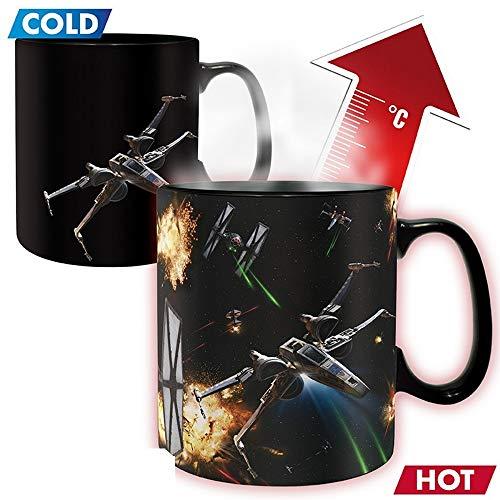 Star Wars Premium Ceramic Thermal Effect Mug 460 ml Space Battle X-Wing Vs. Tie Fighter Gift Box