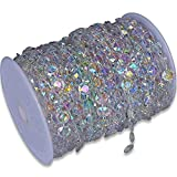 SKY CANDYBAR 99FT DIY Garland Diamond Acrylic Crystal Beads Strand Shimmer Wedding Decorations Party Decoration Crafting Projects (Iridescent)