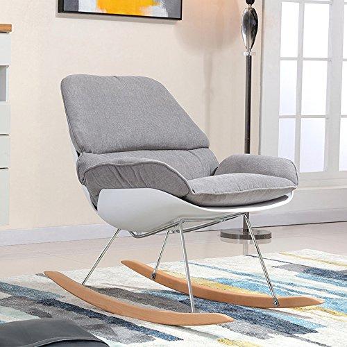 LVZAIXI Vrije tijd schommelstoel Plastic Retro Eetstoel Lounge stoel
