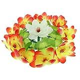 Sharplace Lotus de Soie Couronne de Fleurs Artificielle Décor Enterrement - Une, 50cm