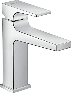 hansgrohe Metropol Basin Tap 110 with Lever Handle, Push-Open Waste, chrome