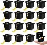 Kesote 24 Cajas de Dulces de Graduación Caja Sombrero de Doctorado Caja de Regalo en Fiesta Ceremonia de Graduación 2021