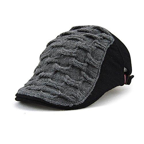 Modelos de otoño e Invierno Sombrero de Lengua de Pato Gorro de Franela con Costuras de Todo fósforo Sombrero de Lengua de Pato Coreano Ondulado Masculino/Femenino