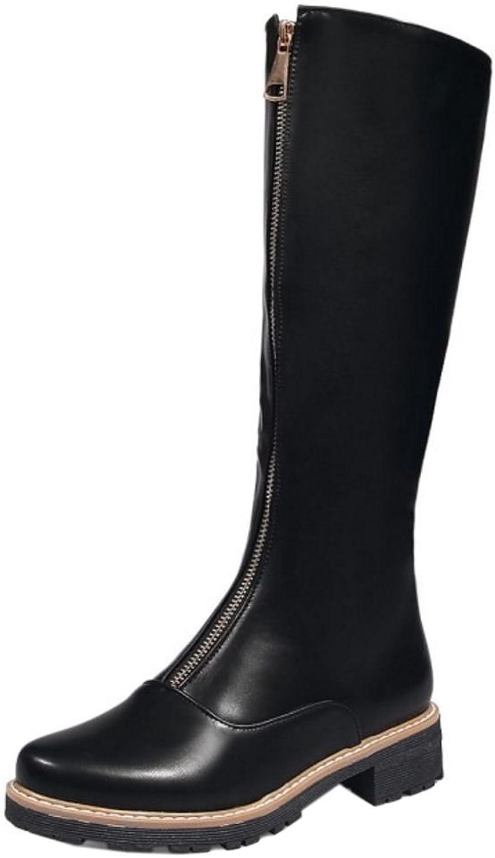TAOFFEN Women's Mid Boots Short Boots Zipper