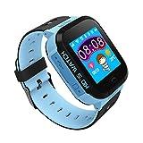 Inteligente ver los niños, la pantalla táctil de la cámara llamada de 2 maneras chat de voz SOS Alarm Clock perdido anti linterna Juego GPS del reloj electrónico de regalo de cumpleaños azul