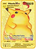 PPCERY Pokemon French Tarjeta de Metal Juego Anime Battle Card...