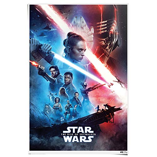 REINDERS Star Wars The Rise of Skywalker - Filmplakat Poster - Papier - 61 x 91,5 cm - Rot