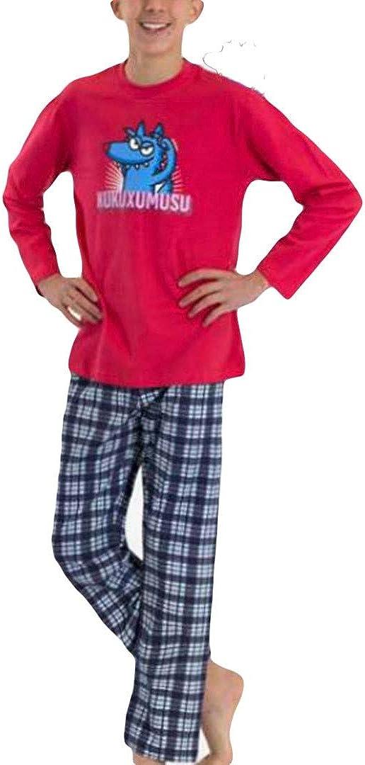 Kukuxumusu - Pijama NIÑOS TURURU Hombre Color: Rojo ...
