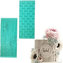 Cake Decorating Silicone Mat - Mold Of Tree Bark and Brick Wall Silicone Mat - Professional and Durable -Food Safe, Non-toxic & Healthy - Non-stick & Easy to Clean - 2pcs/set