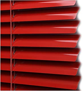 CHENHZ Aluminum Venetian Blinds,Sunscreen Light Filtering Shade Aluminium Roller Shade Thermal Insulated for Meeting Room, Customizable Size (Color : Red, Size : 60x120cm)