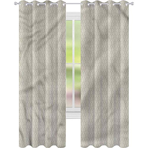 Cortina de ventana verde salvia barroco ramas curvadas W42 x L72 cortinas para sala de estar