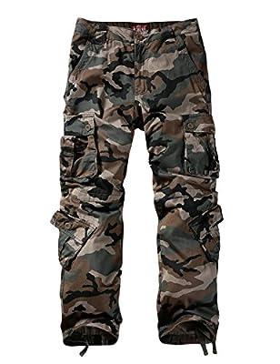 Match Men's Wild Cargo Pants(30,Grayish Green max)