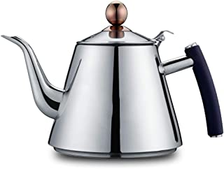 Kettle, gas 304 stainless steel household kettle boiling water gas stove whistle hot water bottle 5.1in Silver (Style : Surface drawing)