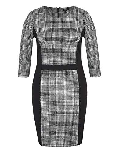 Bexleys Woman by Adler Mode Damen Kleid im Muster- und Material-Mix schwarz/weiß 44