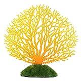 Künstliche Koralle für Unterwasseraquarien/Aquarien, leuchtet im Aquarium, orange, Free Size