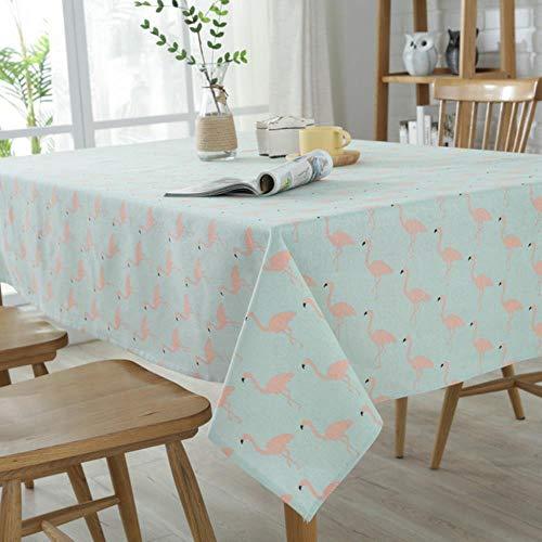 Viner retro houtnerf bedrukt katoenen lakens handdoek tafel rijst katoen linnen tafelkleed decoratieve hoes keuken thuis decoratio, flamingo, 90 * 160cm