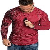 XPDD Herren Pullover Rundhals-Ausschnitt Männer Sweatshirt Langarmshirt Jungen Hoodie T-Shirt...