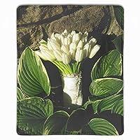 マウスパッド ゲーミングマウスパッド 滑り止め 25 X 30 厚い 耐久性に優れ おしゃれ チューリップ白い花束石の葉