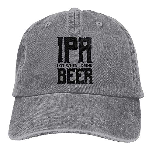 IPA Lot When I Drink Beer Snapback Cotton Hat
