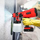 Vogvigo Cordless Electric Sprayer, Paint Sprayer, HVLP Spray Gun, with 3 Spraying Modes 800ML Removable Container Easy Spraying and Cleaning for Tables Chairs Fences Interior Walls Crafts