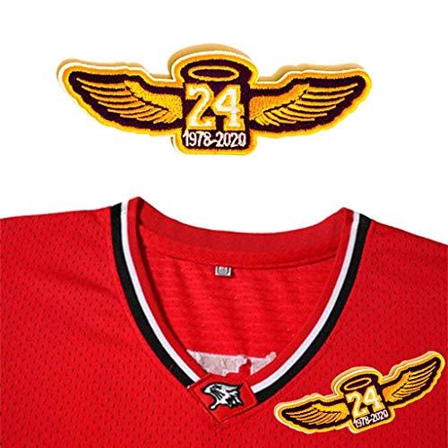 Amycute Kobe Bryant Patch zum Aufbügeln, 24# Aufnäher bestickt Patch, für Kleidung, Jeans, T-Shirt, im Stil des Basketball-Teams