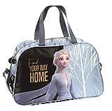Ragusa-Trade Disney Frozen - Die Eiskönigin Anna und ELSA (DOI), Sporttasche Reisetasche für Mädchen, blau/schwarz, 40 x 25 x 16 cm