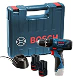 Bosch GSB 120 - LI Professional 12V with 2 x 1.5 Ah Batteries with Charger and Carry Case