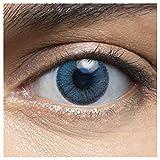 LENSART I Lentes de Contacto MUSCAT BLUE 1 Par 2 Piezas I 0.00 Dioptrías sin dioptrías I Diámetro 14.00 I Blandos | Ojos Lentillas de Naturales Colores Azul, Blanco, Grises Marron