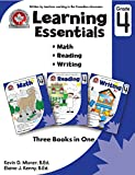 Learning Essentials Grade 4: Math, Reading, Writing, Three Books in One: Written